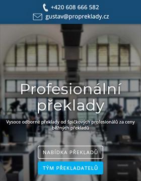 Profesionální překlady: