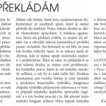 Pojednání o překladech v Literárních novinách - rok 2008.